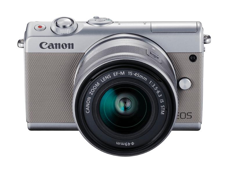 CANON EOS M100 Grau + EF-M 15-45mm IS STM Objektiv + Kunstleder-Fronthülle um EUR388,-- statt 500,--