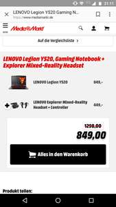 Gaming Notebook + VR Headset