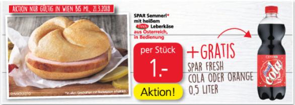 A Leberkassemmal + a Cotschal um an Euro