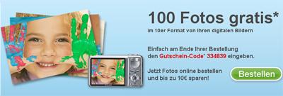 100 Fotoabzüge für 2,99€ *Update*
