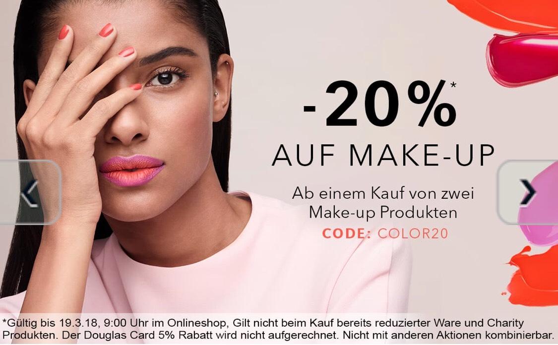 20% Rabatt auf Make-Up ab einem Kauf von 2 Produkten