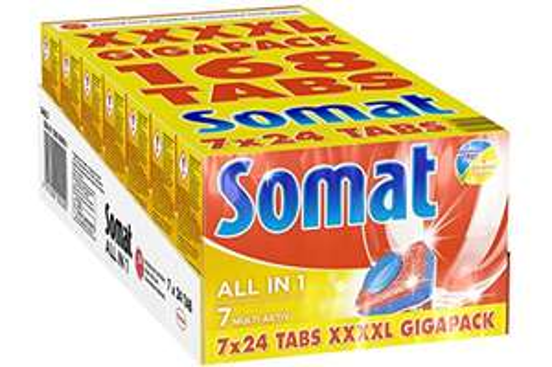 Somat 7 All in 1 4XL Spülmaschinentabs 1x 168 Stück