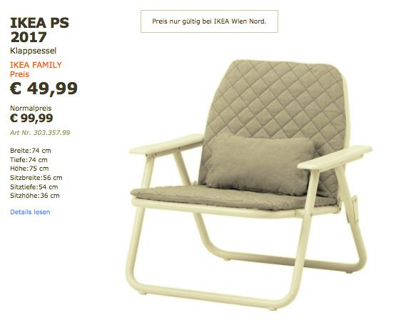 IKEA Familiy: PS 2017 Klappsessel bei Ikea Wien Nord