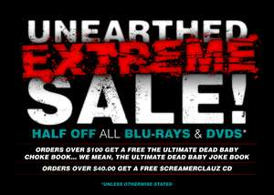 [18+] Unearthed Films SALE - Underground Horror Movies