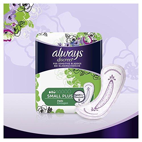 32 Stück Always Discreet Inkontinenz Einlagen (Small Plus)