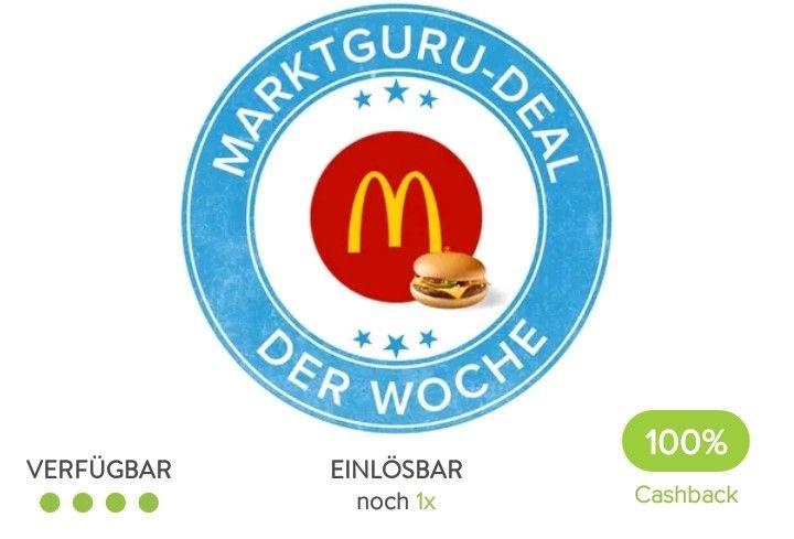 Gratis Cheeseburger bei McDonalds mit der Marktguru App