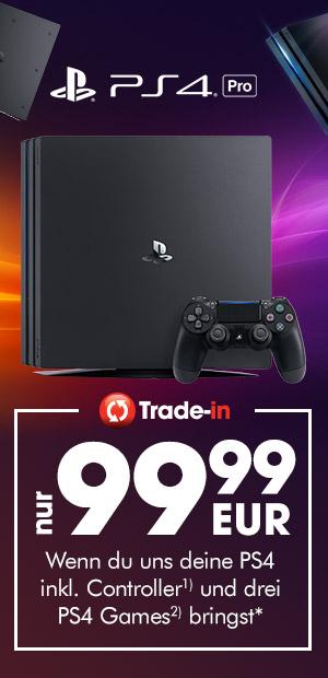 GameStop: PlayStation 4 Pro 1TB für 99,99€ bei Abgabe einer alten PS4 + Controller + 3 Spiele