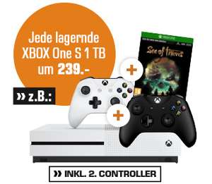 Xbox One S 1 TB - Sea Of Thieves Edition Bundle inkl. 2. Controller für 239€