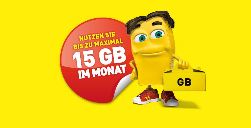 Datenmitnahme bei complete L, XL und Austria, XL mit 10GB statt 7GB