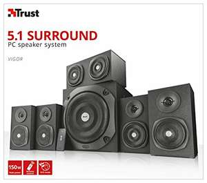 [Amazon] 5.1 Surround Lautsprecher Set von Trust Vigor