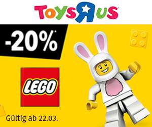 [Toys R Us] 20% auf alle LEGO & Playmobil Artikel 22.3.-30.3.2018