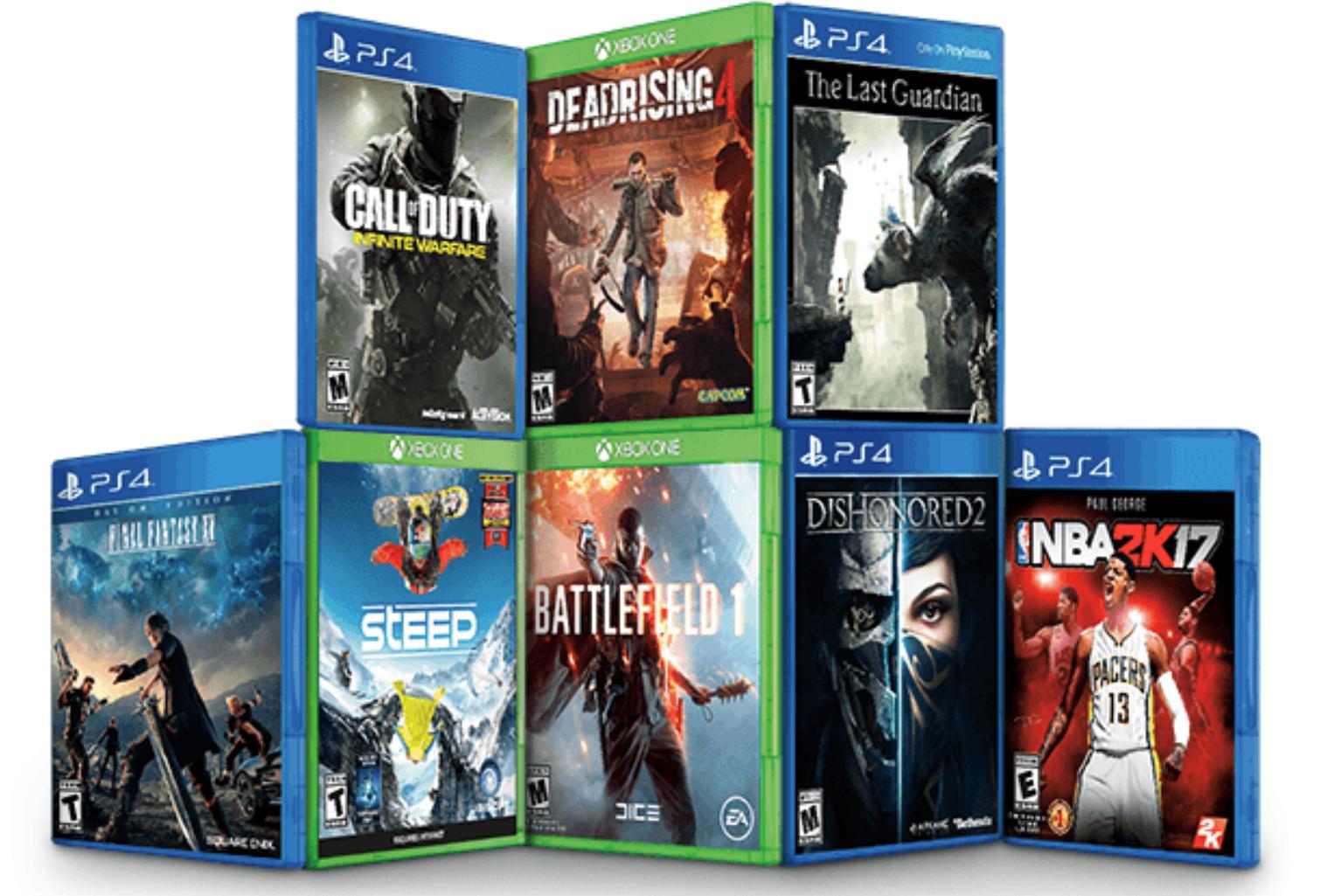 (Amazon) 5 Spiele kaufen, 2 Geschenkt (PS4 und Xbox One)