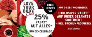 [The Body Shop] 25% auf alles für Love Your Body Clubmitglieder