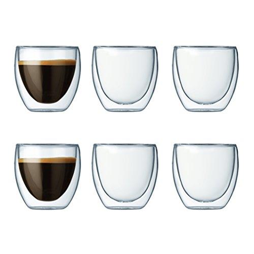 Bodum Gläser-Set  (6-teilig, 0,08L, doppelwandig)