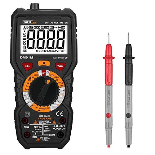 Digital Multimeter:  Temperaturmessung, Außenleiter-Identifizierung, Durchgangsprüfung, Hintergrundbeleuchtung