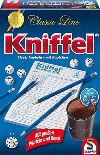 Amazon - Schmidt Spiele 49203 Classic Line: Kniffel mit gr. Würfeln & Block 6,22 Euro
