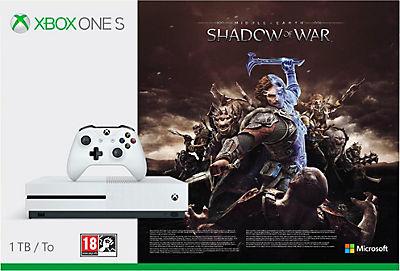 [universal.at] Diverse Xbox One S Bundels mit 10 % Gutschein z.B: Xbox One S 1TB + Mittelerde: Schatten des Krieges 193,50 € (eventuell auch 8% Cashback möglich)