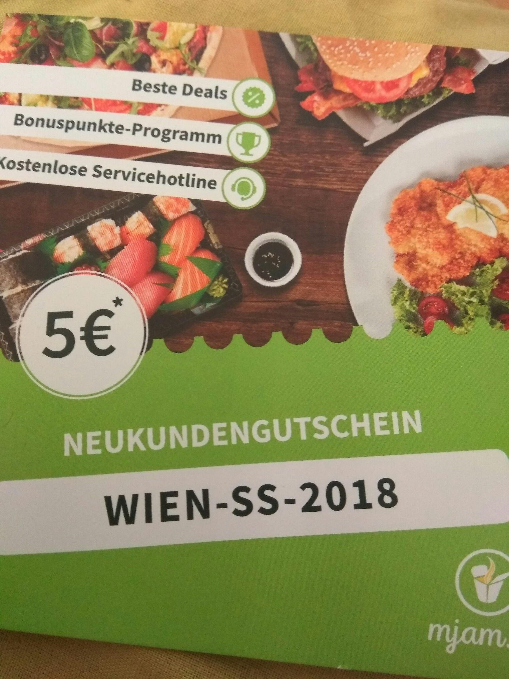 Mjam Neukunden Gutschein Wien