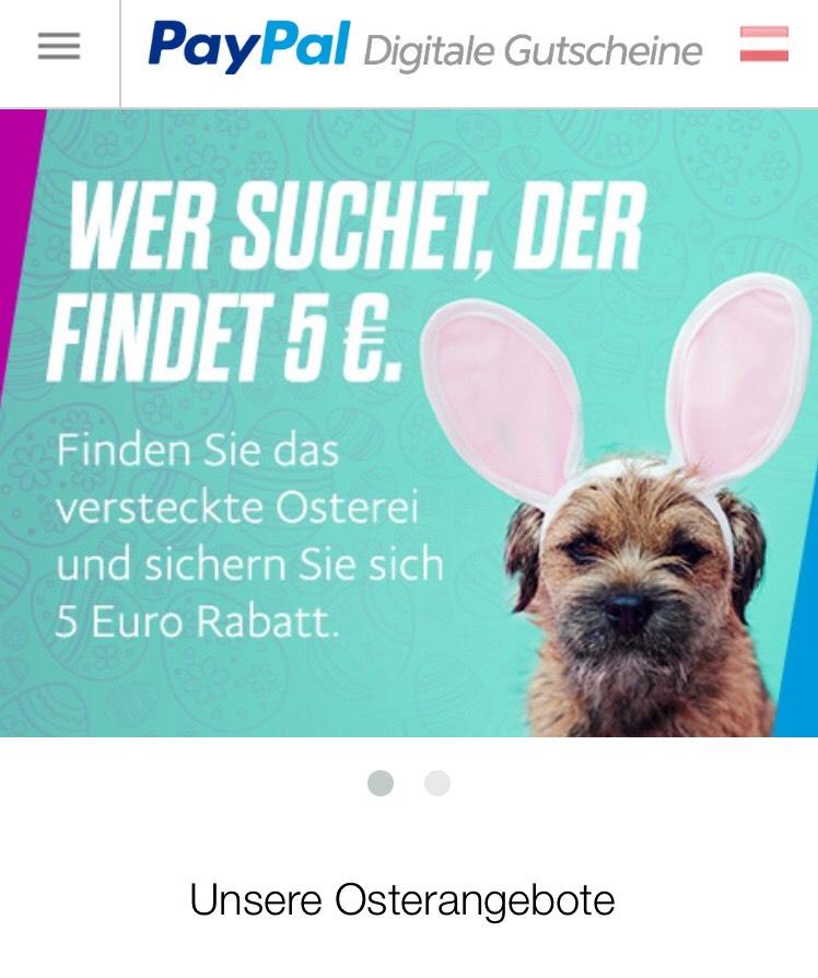 Paypal 5€ auf alles Gutschein (50€ MBW)
