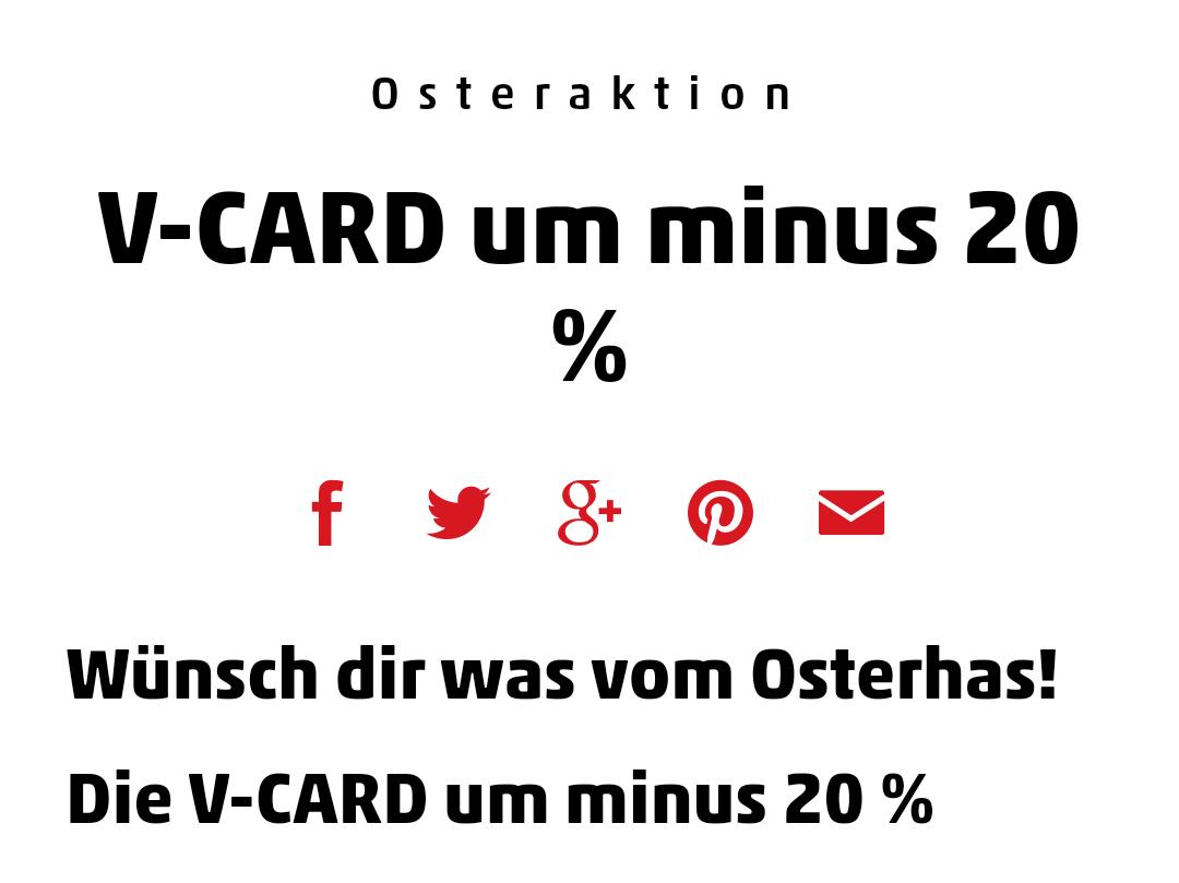-20% auf die V-Card