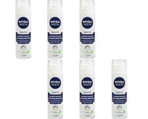 Amazon Blitzangebot Nivea Men Sensitive Rasierschaum, 6er Pack (6 x 200 ml) 8,41 €