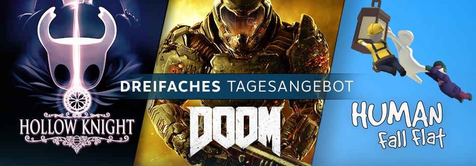 DOOM, Human: Fall Flat oder Hollow Knight verbilligt mit je Steam Link für 1,10€ dazu