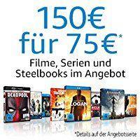 Amazon: DVDs & Blu-Rays für 150€kaufen und nur 75€ zahlen