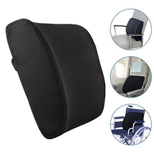 Rückenpolster Bogenförmiges Design Ideale Lendenwirbelstütze für Reise Auto und Büro Entlastung für Rückenschmerzen