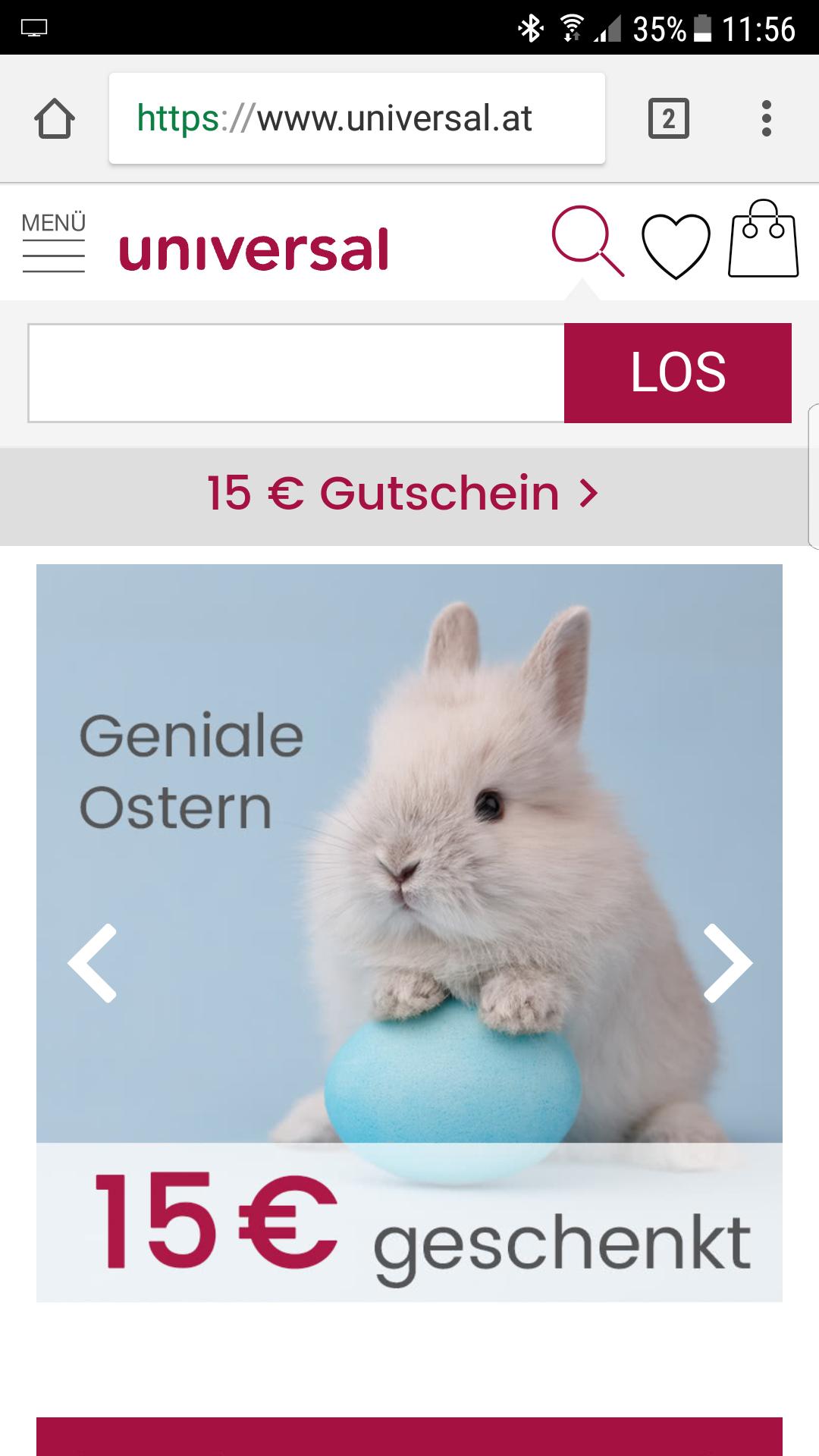 Universal - Geniale Ostern - 15€ Gutschein