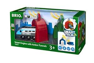 BRIO World 33834 - Smart Tech Zug mit Actiontunnels