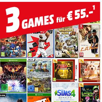 Media Markt: 3 Games für 55€
