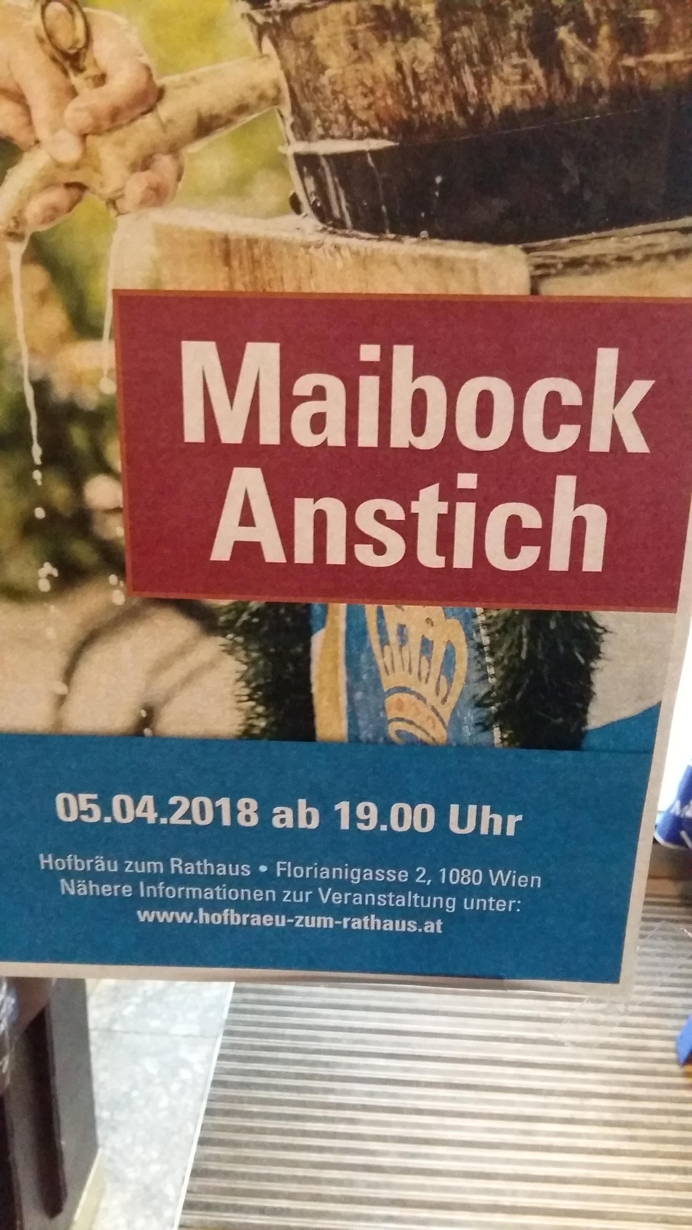 5.4.2018: Gratis Bier (7,2% vol) im Hofbräuhaus zum Rathaus, 1080 Wien