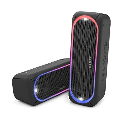 Sony SRS-XB30 Bluetooth Lautsprecher (farbige Lichtleiste, Stroboskoplicht)