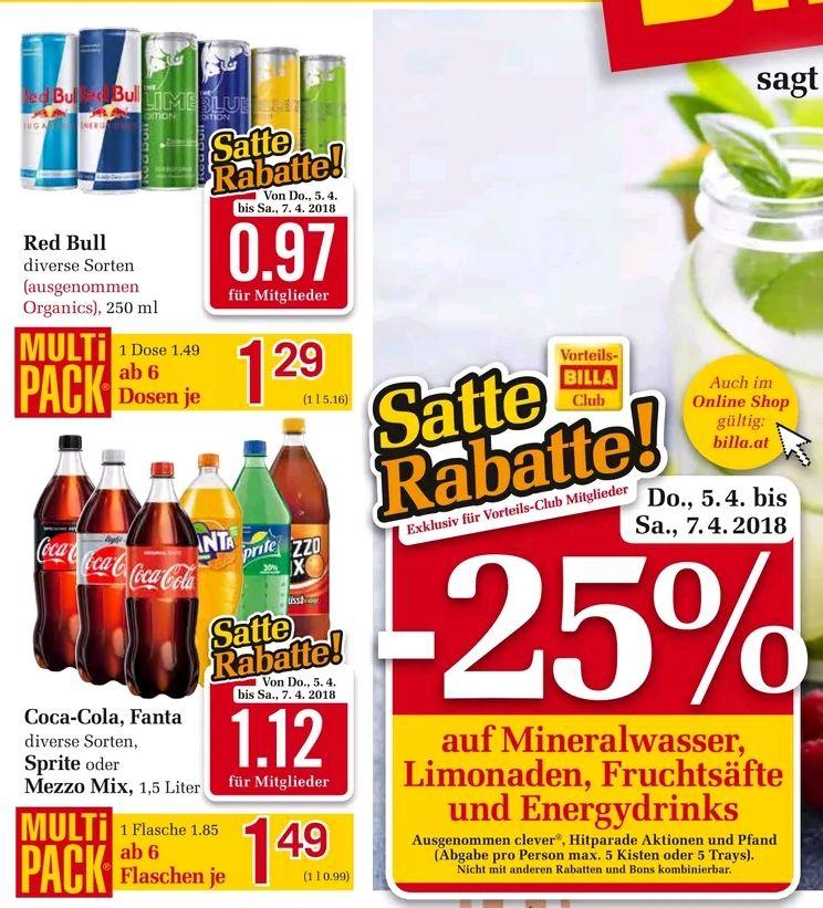 RED BULL diverse Sorten um 0.97 Euro