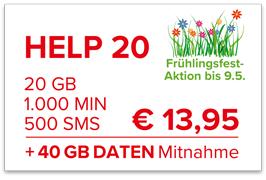 Help Mobile - Frühlingsfestaktion - 6 Tarife