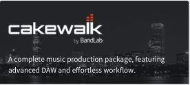 Cakewalk: Profi-DAW Software für Musiker und Audio-Fans jetzt kostenlos