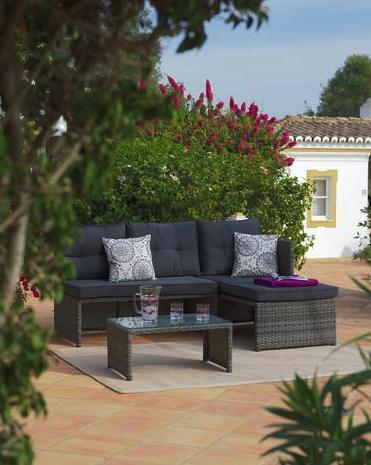 Wohnen im Garten: 8-teilige Loungegarnitur für Garten & Terrasse