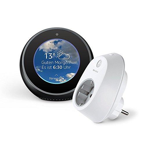 Amazon Echo Spot - Schwarz inkl. TP-Link HS100