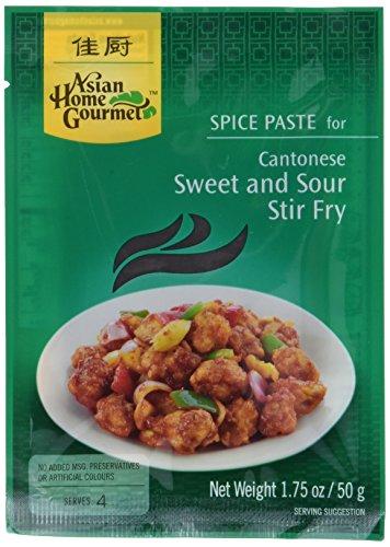 """12x Asian Home Gourmet """"Kantonesisches süßsaures Pfannengericht"""" Gewürzmischung"""