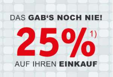 [Filialen XXXLutz] 25% auf den Einkauf