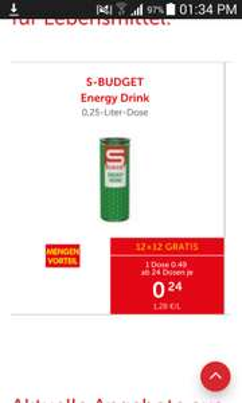 Energymenge wieder zum Knallerpreis! (Inter&Euro)spar Energy Ding zum trinken :D
