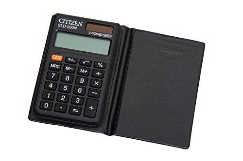 Citizen SLD-200N Taschenrechner schwarz für 3,14 EUR