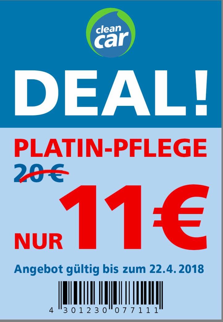 Clean Car Platin-Pflege 11€ statt 20€