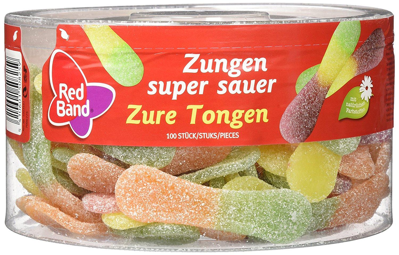 Red Band Zungen super sauer 100 Stück 1.28 kg, 6er Pack (6 x 1.28 kg) für 13,79€ (1,80€ / kg)