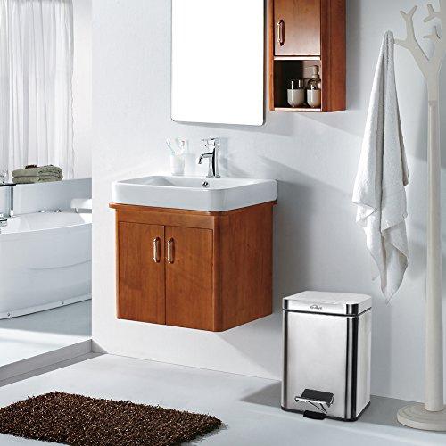 Kosmetikeimer, Badezimmer Mülleimer 5 L,  Treteimer aus Edelstahl, 20 x 29 x 20 cm