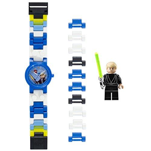 Luke Skywalker Kinder-Armbanduhr mit Minifigur und Gliederarmband zum Zusammenbauen