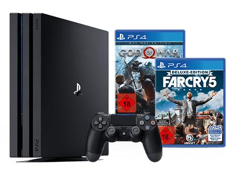 PlayStation 4 Pro 1TB + God of War + Far Cry 5 Deluxe Edition für 419,99€