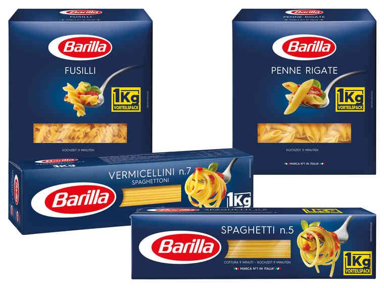 LIDL/HOFER Barilla Aktion Spaghetti, Penne Rigate, Fusilli, Vermicellini je 1kg ! von Mo 23.4 - 25.4.