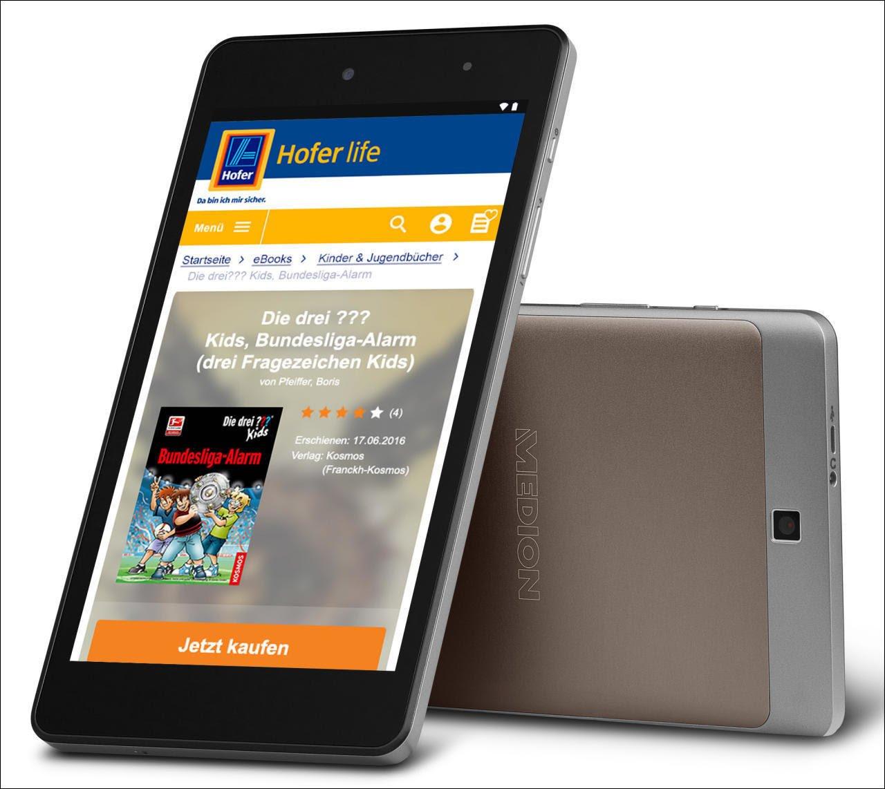 (Hofer, eventuell nur lokal) Medion E6912 eBook Reader/Tablet um 19,99€ statt 99,99€