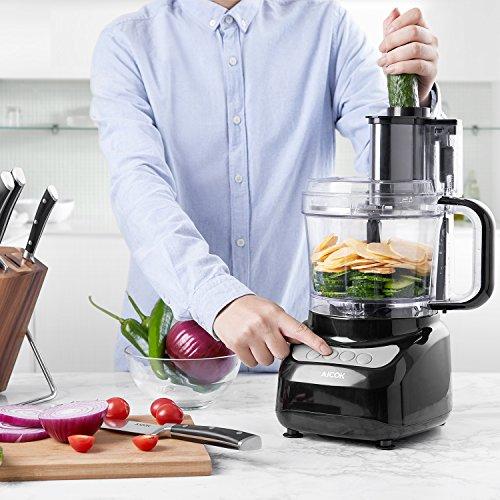 Kompakt-Küchenmaschine mit Weiter Öffnung  - 1,8 Liter Häcksler & Reibe